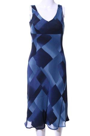 Taifun Midikleid blau-schwarz abstraktes Muster Casual-Look