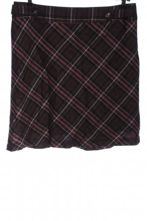 Taifun Mini-jupe brun-rose motif à carreaux style décontracté