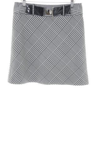 Taifun Minirock weiß-schwarz grafisches Muster Casual-Look