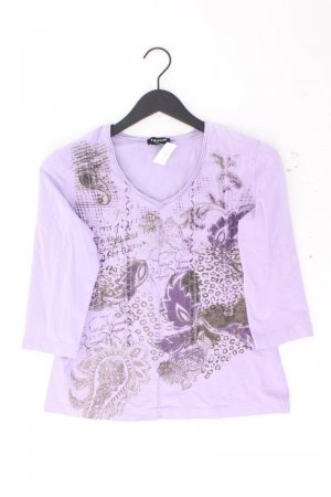 Taifun Printshirt Größe 40 3/4 Ärmel lila aus Baumwolle