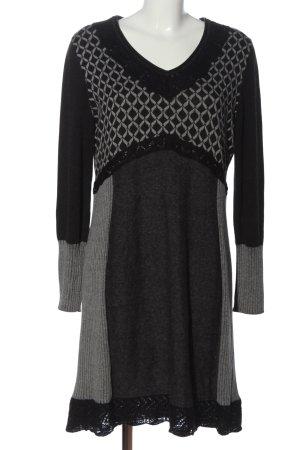 Taifun Sweater Dress black-light grey allover print casual look