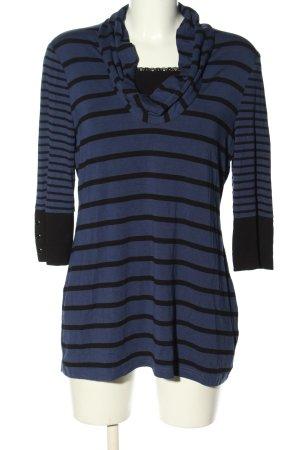 Taifun Stripe Shirt blue-black striped pattern casual look