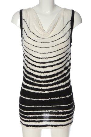 Taifun Schlupf-Bluse schwarz-weiß Streifenmuster Casual-Look