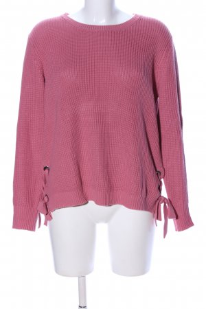 Taifun Separates Grobstrickpullover pink Casual-Look