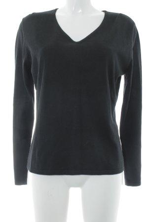 Taifun Separates V-Ausschnitt-Pullover schwarz klassischer Stil
