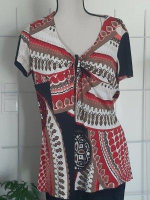 Taifun Collection Maglia batik bianco-rosso scuro