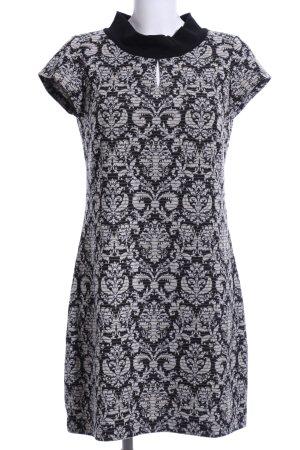 Taifun Shirt Dress black-light grey allover print elegant