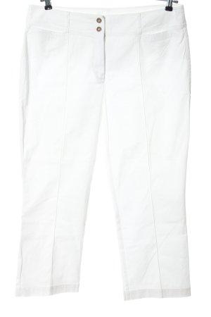 Taifun Pantalone jersey bianco stile casual