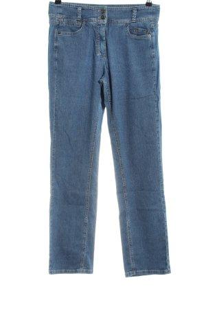 Taifun Jeansy z prostymi nogawkami niebieski W stylu casual