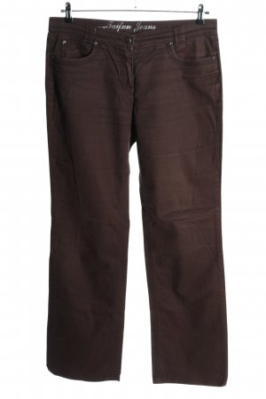 Taifun Jeansy z prostymi nogawkami brązowy W stylu casual