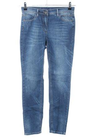 Taifun Jeans coupe-droite bleu style décontracté