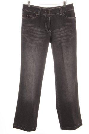 Taifun Jeansy z prostymi nogawkami szary-taupe W stylu casual
