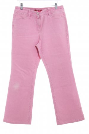 Taifun Jeansy z prostymi nogawkami różowy W stylu casual
