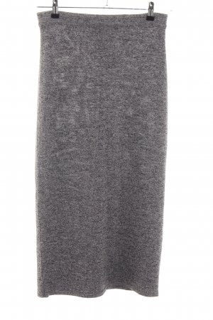 Taifun Knitted Skirt light grey flecked casual look