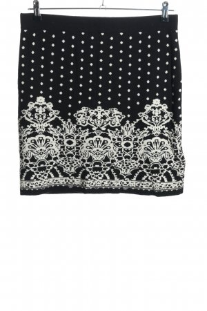 Taifun Knitted Skirt black-white allover print casual look