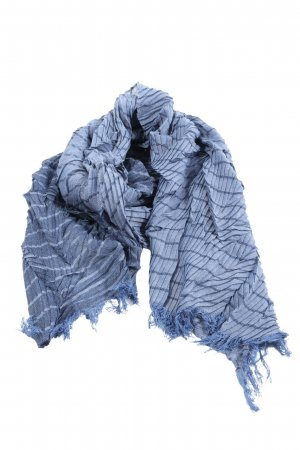Taifun Knitted Scarf blue color gradient casual look