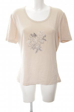 Taifun T-Shirt nude-creme Blumenmuster Casual-Look