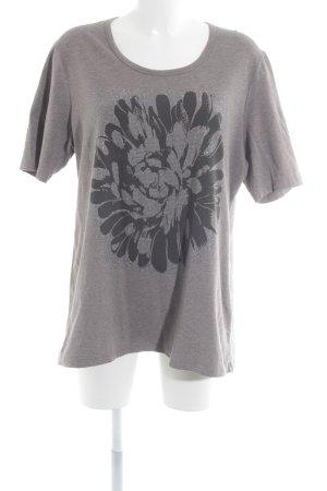 Taifun T-Shirt grau-taupe Motivdruck Casual-Look