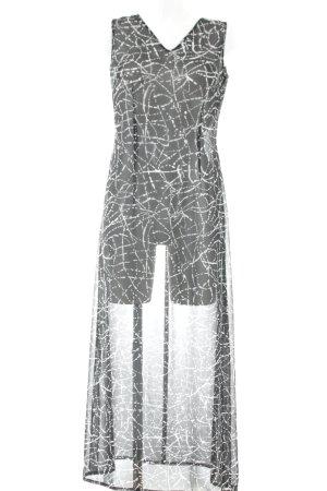 Taifun Trägerkleid schwarz-weiß abstraktes Muster schlichter Stil