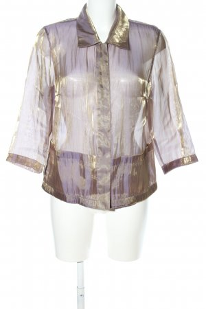 Taifun Transparenz-Bluse goldfarben-lila Farbverlauf Glanz-Optik