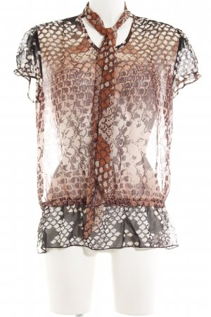 Taifun Transparenz-Bluse abstraktes Muster extravaganter Stil