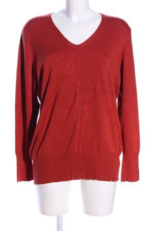 Taifun V-Ausschnitt-Pullover rot Casual-Look