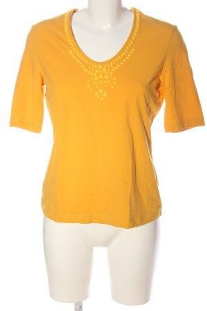 Taifun Camisa con cuello V naranja claro look casual