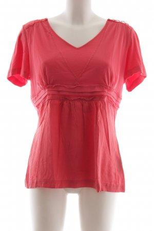 Taifun V-Ausschnitt-Shirt rot Elegant