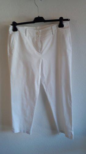 Taifun 7/8 Length Trousers white cotton