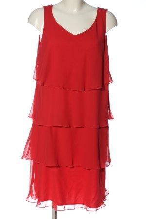 Taifun Vestido estilo flounce rojo estilo clásico