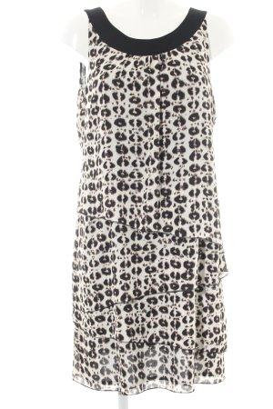 Taifun Flounce Dress natural white-black abstract pattern business style