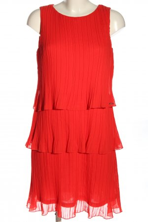Taifun Vestido estilo flounce rojo look casual