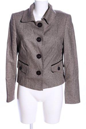 Taifun Blazer in lana marrone puntinato stile professionale