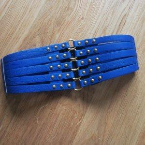 Hebilla del cinturón color oro-azul