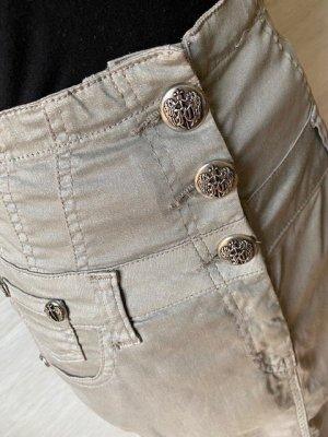 Faith High Waist Skirt silver-colored-light grey cotton