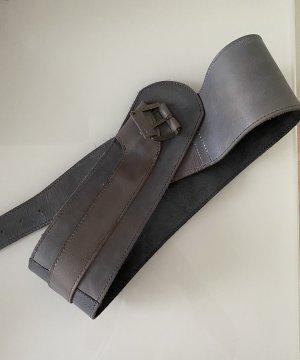 Pieces Cinturón de cuero gris pizarra Cuero