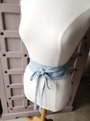 Genuine Leather Cinturón pélvico azul celeste