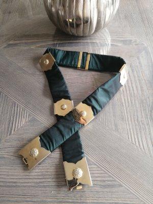 Cinturón pélvico color oro-verde bosque
