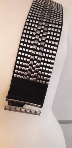 Hallhuber Cinturón pélvico negro-color plata