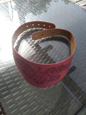 Unbekannte Marke Leather Belt dusky pink