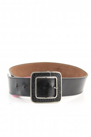 Waist Belt silver-colored-black animal pattern extravagant style