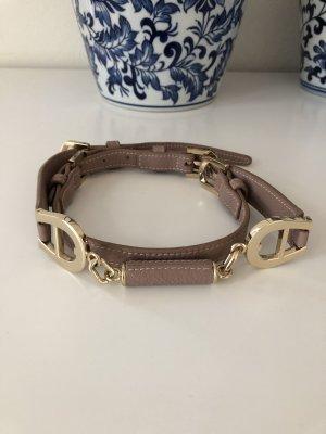 Aigner Cinturón pélvico color oro-malva Cuero