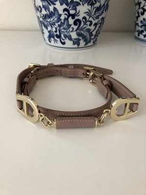 Aigner Waist Belt gold-colored-mauve leather