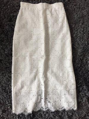 H&M Falda de encaje multicolor