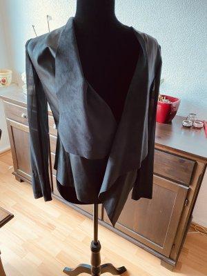 Zara Blazer en cuir noir
