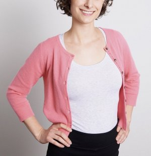 Boden Knitted Cardigan pink-pink cashmere