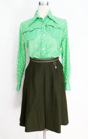 True Vintage Jupe bavaroise gris vert-vert foncé mohair
