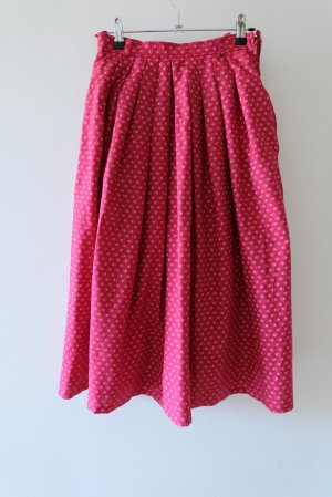 C&A Traditional Skirt white-red cotton
