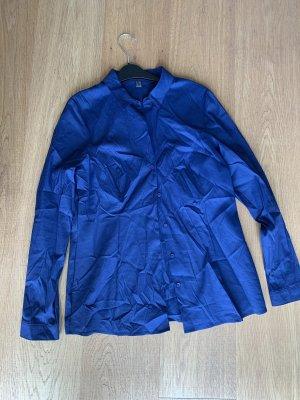 Taillierte Bluse in Königsblau von Esprit, ungetragen
