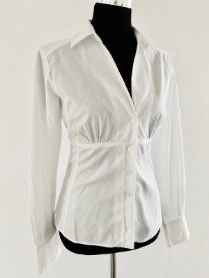 Taillierte Business ,-Basic Bluse weiß